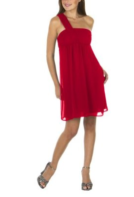 Best Red Dress Review – Mossimo one shoulder above the knee