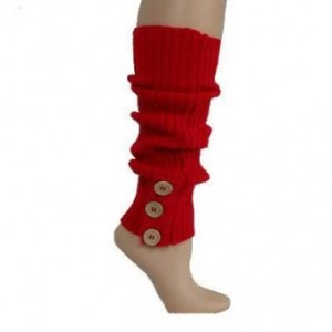 The Best Red Dress Red Ribbed Red Leg Warmers