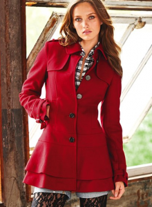 The Best Red Dress Winter Look Red Coats Red Wellies Red Necklaces