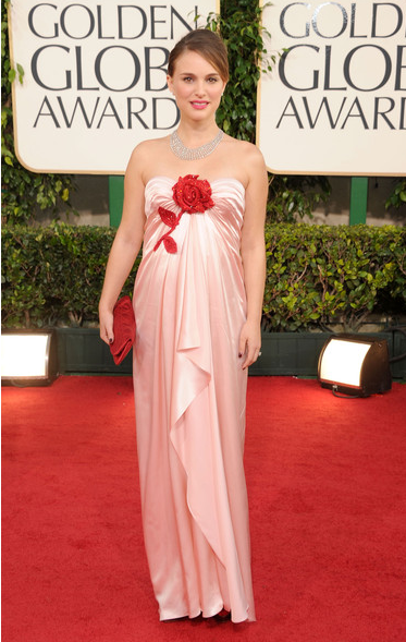 Golden Globes Fashion: Natalie Portman on The Best Red Dress