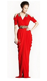 Alexander McQueen Red Draped Gown Best Red Dress 2