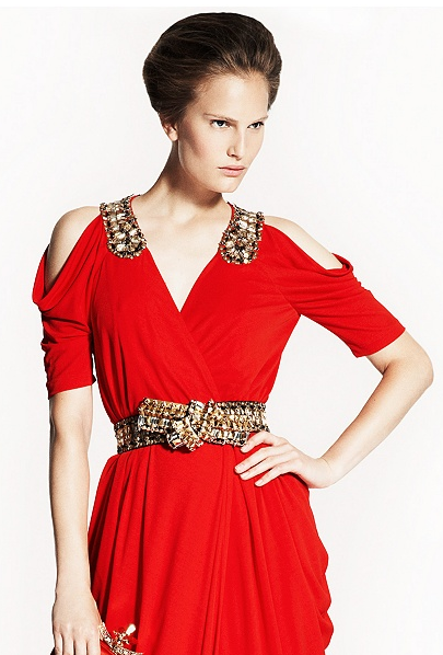Alexander McQueen Red Draped Gown Best Red Dress 3