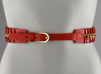 Leather Woven Chain Belt Bergdorf Goodman
