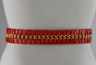 Red Woven Leather Chain Belt The Best Red Dress