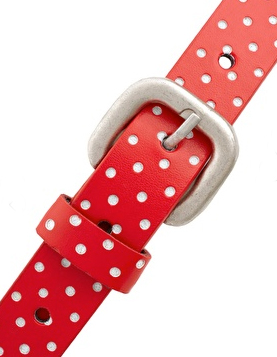 Red Polka Dot Retro Vintage Belt The Best Red Dress