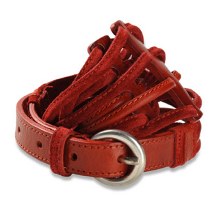 Biker Chick Red Belt by Diesel