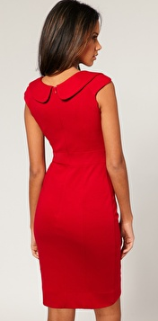 ASOS Red Peter Pan Collar Dress form fitting The Best Red Dress