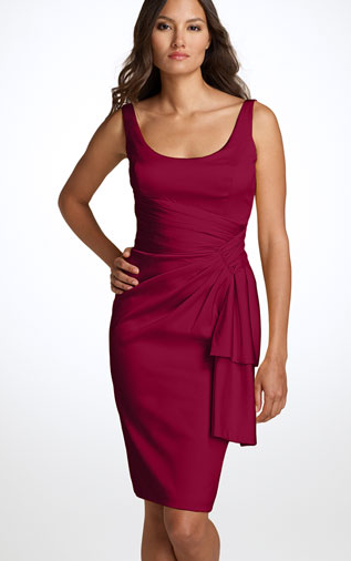 Maggy London sleeveless stretch satin sheath dress The Best Red Dress