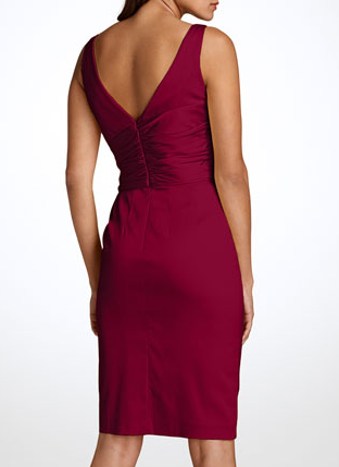 Maggy London Sleeveless Red Satin sheath dress from Nordstrom