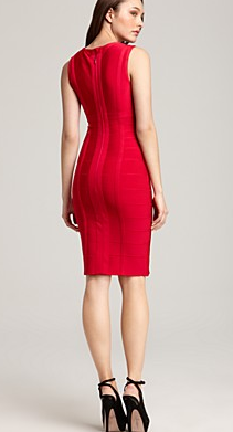 Herve Leger Sleeveless Sexy Red Bandage Dress The Best Red Dress