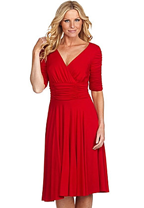 Nue by Shani Ruched Dress Dillards The Best Red Dress