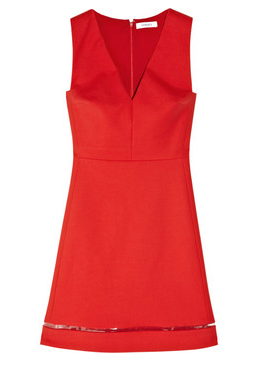 Versace stretch cotton a line dress The Best Red Dress