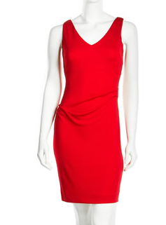Nicole Miller draped V neck Neiman  Marcus Last Call The Best Red Dress