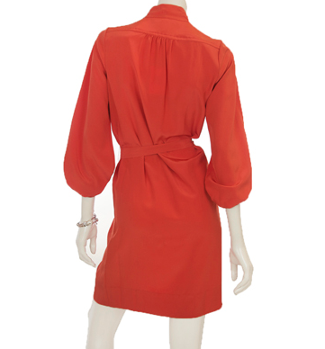 Best Red Dresses for Office Diane Von Furstenberg bairly red dress