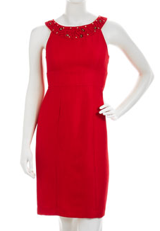 Beaded Halter Sheath Last Call Neiman Marcus The Best Red Dress