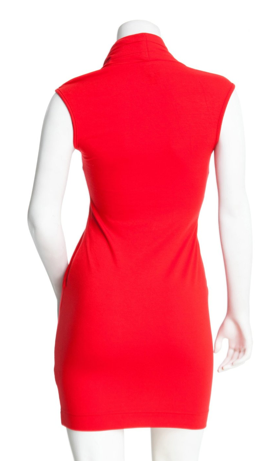 Cowl Neck Red Jersey Dress on The Best Red Dress