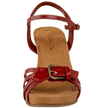 Aerosoles Plush Red Wedge Sandal Shoe The Best Red Shoe