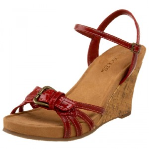 The Best Red Shoes Aerosole Red Wedge Sandal