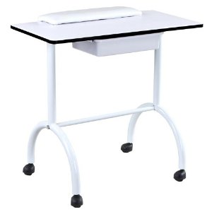 White Manicure Table for Nails