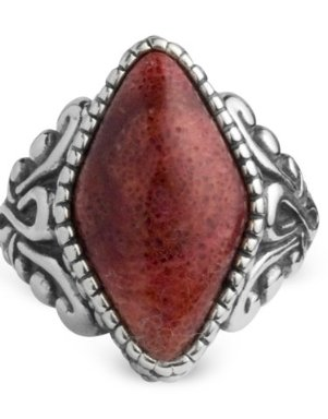 Carolyn Pollack Sterling Silver Color Connections Radiant Red Ring on The Best Red Dress