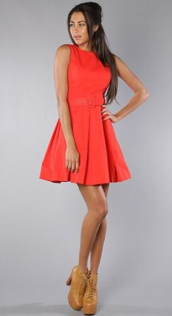 The Best Red Dress BB Dakota Audry Audrey Dress in Red