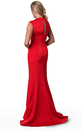 The Best Red Dress JS Collections Red Carpet Red V-Neck Gown