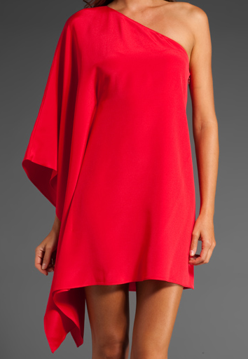 The Best Red Dress Paradise One Shoulder Kimono Dress Jay Godfrey Revolve Clothing