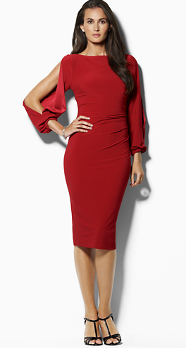 The Best Red Dress Ralph Lauren Jersey Open Sleeved Dress