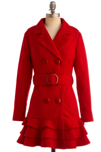 The Best Red Dress Mod Cloth Candy Apple Red Chic Coat