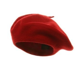 The Best Red Dress Red Wool Beret Hat under $5.00