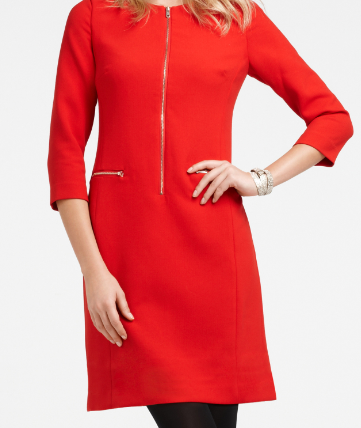 The Best Red Dress Ann Taylor Perfect Red Dress Red Zip Dress