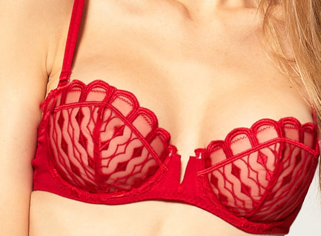 The Best Red Dress Asos Implicite Tentation Half Cup Bra