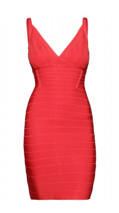 The Best Red Dress Herve Leger Bandage Dress
