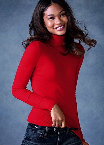 The Best Red Dress Victoria's Secret Silk and Cashmere Turtleneck Sweater