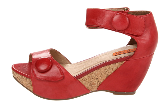 Miz Mooz Yael Red Leather Wedge Shoe The Best Red Dress
