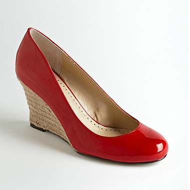 The Best Red Dress ADRIENNE VITTADINI Red Patent Wedge Heel Shoes on The Best Red Dress