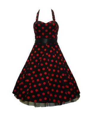 Black  White Polka  Dress on Best Red Dress Black And Red Polka Dot 1950s Dress The Best Red Dress