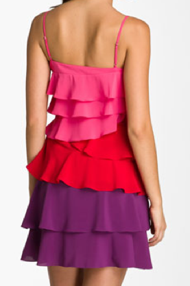The Best Red Dress Calvin Klein Ruffled Tiered Chiffon Dress The Best Red Dress