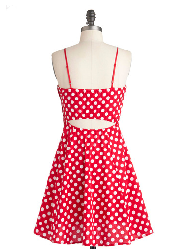 Best Red Dress Mod Cloth Red White Polka Dot Dress The Best Red Dress 