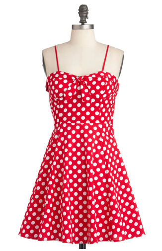 The Best Red Dress Mod Cloth Red White Polka Dot Dress The Best Red Dress
