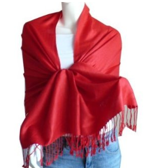 Red Pashmina Shawl Scarf on The Best Red Dress