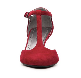 The Best Red Dress Adrienne Vittadini Red Pump - Sultry Red T-Strap Shoe The Best Red Dress