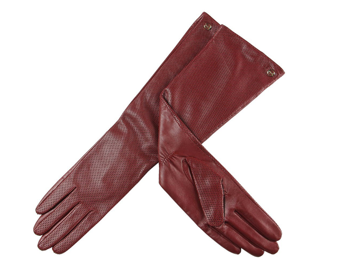 The Best Red Dress Red Elbow Length Nappa Leather Driving Gloves The Best Red Dress