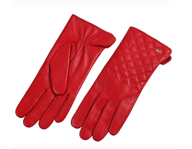 The Best Red Dress Red Nappa Leather Quilt Touch Screen Gloves The Best Red Dress
