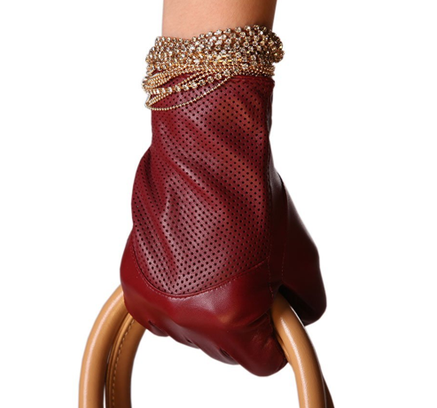 The Best Red Leather Gloves on The Best Red Dress