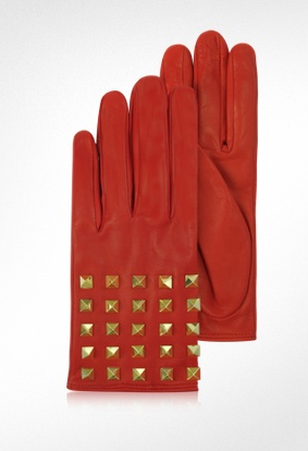 The Best Red Dress Valentino Garavani Red Leather Stud Gloves The Best Red Dress