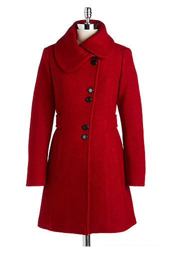 The Best Red Dress with The Best Red Short Coat