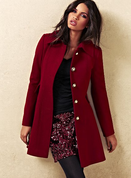 The Best Red Dress Victorias Secret Red Wool Flare Coat The Best Red Dress