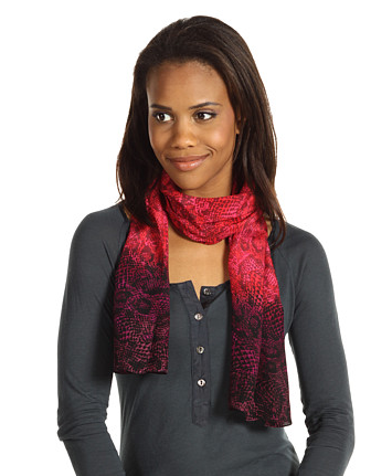 The Best Red Dress Calvin Klein Red Ombre and Reptile Print Scarf