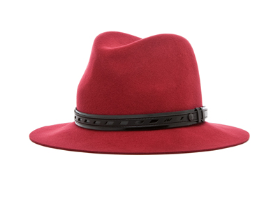 The Best Red Dress Rag and Bone Red Floppy Brim Fedora Hat The Best Red Dress